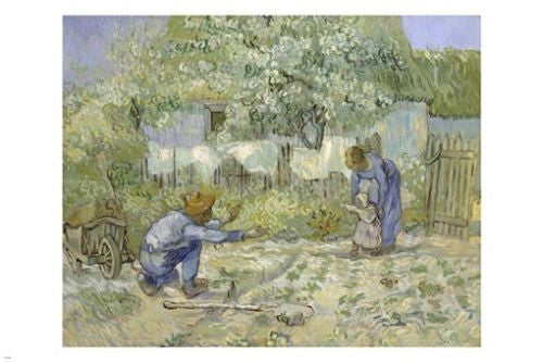 VINCENT VAN GOGH painting poster FIRST STEPS 24X36 quality & affordability