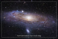HUBBLE SPACE IMAGE POSTER Full Field Globular Star Cluster Map 24X36 NEW!