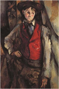 1888 CEZANNE boy in a red vest FRENCH MODERN PAINTING classic poster 24X36