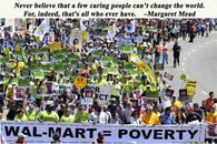 changing the world MOTIVATIONAL POSTER QUOTE 24X36 protest against poverty