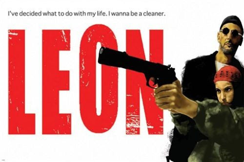 leon THE PROFESSIONAL with MATILDA quote MOVIE poster 24X36