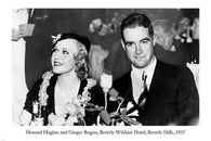 Howard Hughes & Ginger Rogers CELEBRITY POSTER Beverly Wilshire Hotel 24X36