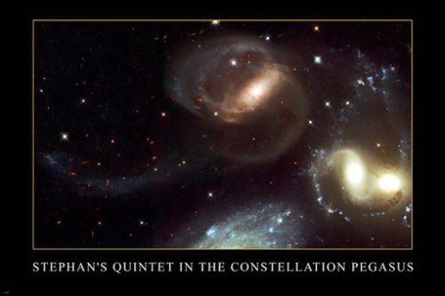Stephan's Quintet IN THE CONSTELLATION PEGASUS Space Image poster 24X36 NEW