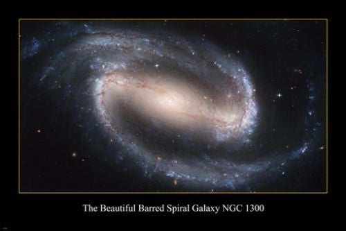 THE BEAUTIFUL BARRED SPIRAL GALAXY NGC 1300 Hubble Space image POSTER 24X36