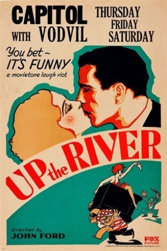 john ford's UP THE RIVER vintage movie poster 1930 HUMPHREY BOGART 24X36