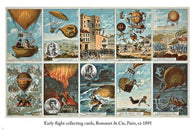 1895 early flight collecting cards VINTAGE 24X36 poster GREAT FOR HOME DECOR
