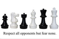 chess pieces from eurochess MOTIVATIONAL POSTER 24X36 RESPECT BUT FEAR NONE