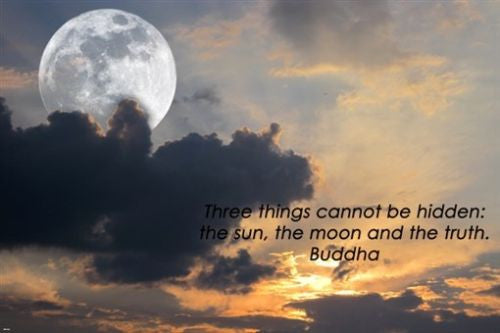 SUN and MOON INSPIRATIONAL poster BUDDHA quote on TRUTH 24X36 wisdom