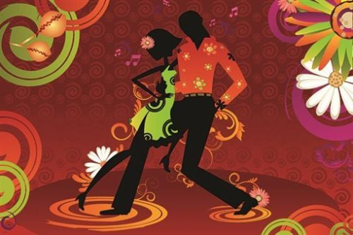 SALSA dancing poster LATINO STYLE hot moves COLORFUL ATHLETIC musical 24X36