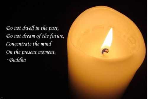candle flame with quote from Buddha INSPIRATIONAL POSTER 24X36 wisdom TRUTH