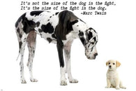 big dog little dog MOTIVATIONAL POSTER 24X36 inspiring quote by MARC TWAIN