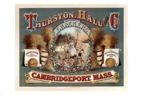 Thurston Hall CRACKERS vintage ad poster United States 1875 24X36 RARE