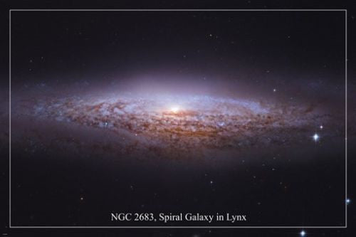 NGC 2683 SPIRAL GALAXY IN LYNX space image POSTER24X36 island universe