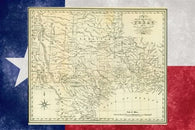 ARROWSMITH KENNEDY 1841 Republic of Texas map POSTER 24X36 HISTORICAL rare!