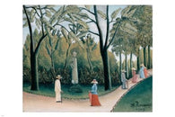 luxembourg gardens monument to shopin HENRI ROUSSEAU FINE ART POSTER 24X36