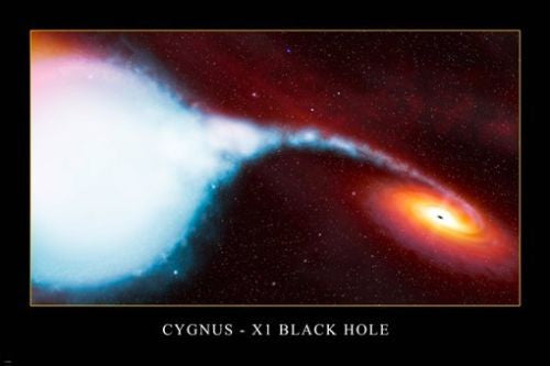 Cygnus-X1 BLACK HOLE Hubble Space Image Poster 24X36 AMAZING Spiral RED Stars