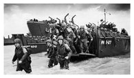WW2 MARINES beach landing poster 24X36 b/w photo historic COLLECTORS IMAGE