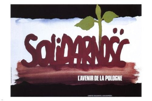 famous SOLIDARITY The future of Poland POSTER 1976 24X36 polish trade union