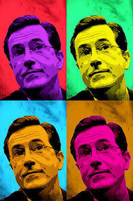 CELEBRITY TALK SHOW HOST Steven Colbert Multiple Image POP ART POSTER 24X36