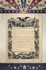 HISTORIC PROCLAMATION OF EMANCIPATION DOCUMENT poster lincoln signed 24X36