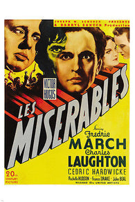 1935 ZANUCK'S LES MISERABLES movie poster fredric MARCH FRENCH history 24x36