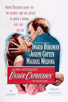 HITCHCOCK'S UNDER CAPRICORN movie POSTER ingrid BERGMAN 24X36 suspense