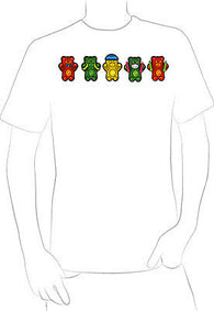 5 AWESOME CUTE FUN COLORFUL TEDDY BEARS T-SHIRT HOT RARE NEW  - A10