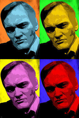 Quentin Tarantino DIRECTOR CELEBRITY multiple image POP ART POSTER 24X36