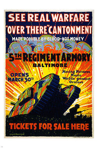 5TH REGIMENT ARMORY BALTIMORE classic ad poster HISTORIC COLORFUL 24X36 hot