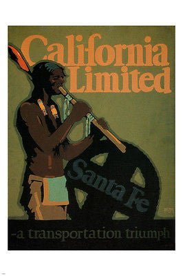 California Limited TRAVEL POSTER Sam Hyde Harris US 1925 24X36 PRIZED