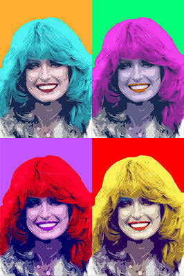 FARRAH FAWCETT Celebrity Actress Multiple Image POP ART POSTER 24X36 New