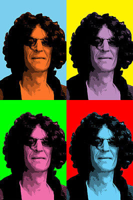 CELEBRITY SHOCK JOCK HOWARD STERN pop art poster multiple images 24X36 new
