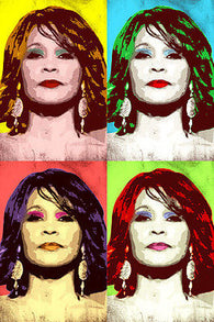 WHITNEY HOUSTON singer CELEBRITY multiple image POP ART POSTER 24X36 NEW