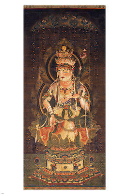 Eleven-faced GODDESS OF MERCY Fine Art Poster Nara Japan 24X36 BUDDHIST