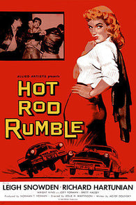 HOT ROD RUMBLE movie POSTER leigh snowden classic cars racing NEW 24X36