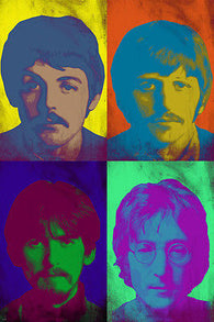 world famous THE BEATLES celebrity BAND mutliple image POP ART POSTER 24X36