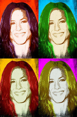 POP art POSTER jennifer anniston celebrity ACTRESS multiple images 24X36
