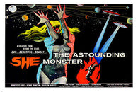 (THE ASTOUNDING) SHE MONSTER movie poster COLORFUL PLANETS EVIL 24X36 -PW0
