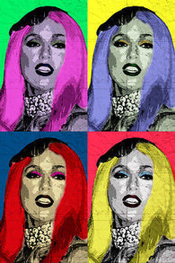 celebrity singer LADY GAGA multiple image POP ART POSTER colorful 24X36 hot