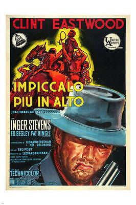 Hang 'Em HIGH italian movie poster CLINT EASTWOOD INGER STEVENS 1968 24X36