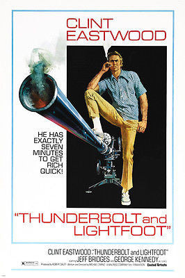 clint EASTOOD jeff BRIDGES Thunderbolt And Lightfoot movie poster NEW 24X36