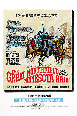 The Great Northfield Minnesota Raid MOVIE POSTER Cliff Robertson 24X36 WEST
