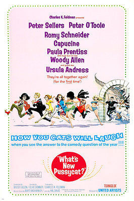 what's new PUSSYCAT peter SELLERS ursula ANDRESS woody ALLEN comedy 24X36
