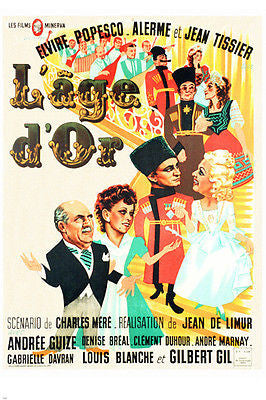 1942 FRENCH L'AGE D'OR movie poster POPESCO TISSIER & ALERME comedy 24X36