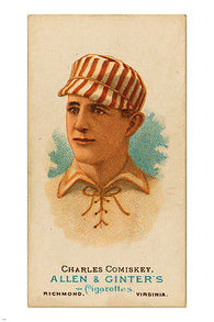 1887 C. Comiskey first baseman ST LOUIS BROWNS VINTAGE POSTER 24x36 baseball