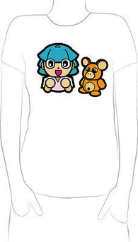 cartoon girl teddy bear colorful T-Shirt Ears Eyes Happy New