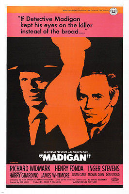 MADIGAN movie poster richard widmark henry fonda 24X36 DETECTIVE romance
