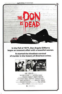 the DON is DEAD movie poster ANTHONY QUINN murder MAYHEM historic 24X36