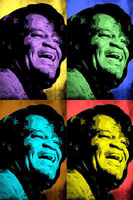JAMES BROWN celebrity singer MULTIPLE IMAGE pop art poster 24X36 SOUL funk