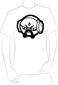 COMICAL LOOKING DJ W/HEADPHONES DRAWING T-SHIRT NEW HOT RARE  COLLECTORS  - A10